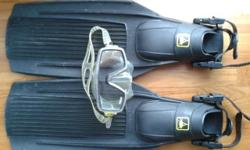Legendary Italian diving gear. Condition is very good.