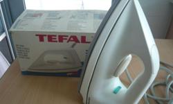 Used TEFAL dry iron for sale. With ceramic (non-stick)