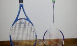 Tennis and badminton racket for adult. 30 SGD each.