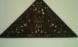 Beautiful, Authentic Thai Teak Wood Hand-Carved Wall