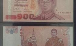 -denomination of 100 baht -free standard or local pick