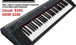 Yamaha Keyboard Piaggero NP-11 is a Slim, Light &