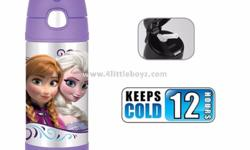 Thermos Funtainer 12 Ounce Bottle, Frozen Purple Price: