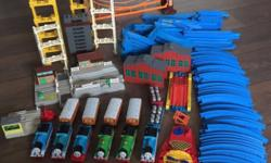 "Pre-loved Thomas Tank Engine Train and Bus ""fleet"" and"