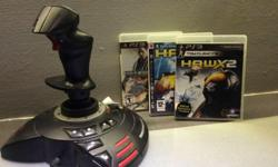Selling ThrustMaster Joystick with 3 PS3 game 1.Ace
