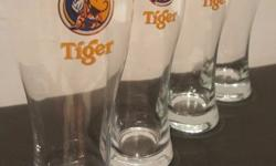 Tiger Beer Tall Mug Glass 475 ml (Set of 4 pieces)