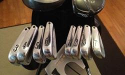 For sale are a set of Titleist 735.CM irons, a Titleist