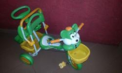 Toddler Tricycle in green and with musical