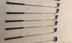Golf set consisting of: Pitching wedge, Putter, 3 Wood,