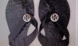 brand new tory burch slippers sizes avail 5 -5.5 and 6