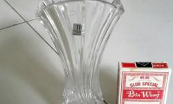 Toyo Sasaki quality glass flower vase, made in Japan.