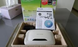 TP-Link wireless router with cd and instructions. setup