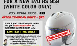 Trade in your old motorcycle helmet promotion for new