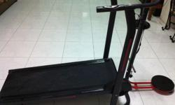 New manual treadmil for sale. With attached eliptical