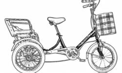 Tricycle carry person . For rider 140 - 175 cm .Front .