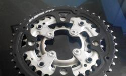 Used chain rings 42T, 32T and 22T. Priced to sell, so