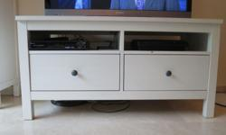 2 drawer TV bench Brand: Ikea Model: Hemnes Colour: