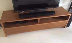TV bench in good condition for sale. Good storage with