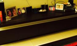 1. Selling out wooden black color TV console. TV