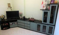 Option 1) 6 Pcs drawer cabinet and display TV console