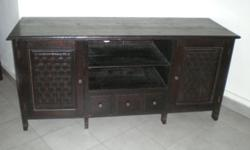 TV Console Teak Wood Selling For Only $120 L150cm x