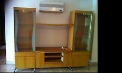 TV console with display cabinets