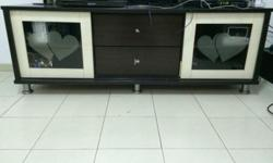 Used TV Console with 4 shelf and 2 drawer (wooden) for