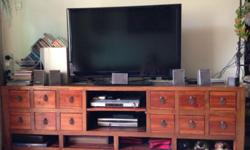 TV Display Shelf with slots for DVD player and