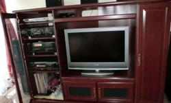 Home Theater TV Console for housing Hi-Fi system