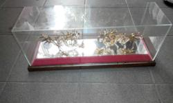 Fortune twin dragon In glass case Price nego