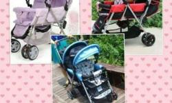stroller weight 9.5kg - max weight 30kg per seat -