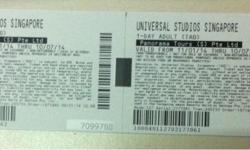 Two (1 Day) Passes to Universal Studio, Singapore.