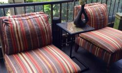 Striped accent chairs that are extremely comfortable to