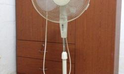 2 stand fans for sale . Item is good condition.