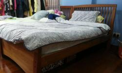 There are two set of super single bed frame which comes