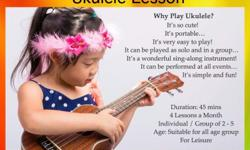 Ukulele Lesson ( Individual ) for age 5 and above $ 160