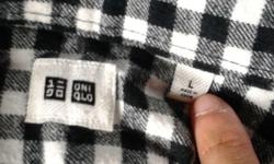 Hi, I am selling away a Uniqlo Black Check Shirt Size