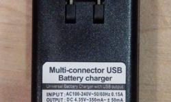 Universal Battery Charger with USB output for Samsung