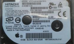 "Unused HITACHI 1.8"" PATA ZIF 60GB hard disk for sale."