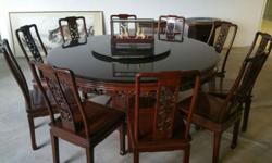 Urgent Sale 10 Seater Rosewood Round Dining Table For Sale In Anson Road Central Singapore Classified Singaporelisted Com