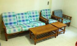 used 3+1+1 sofa with extra set cover self collect @