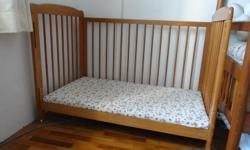 Selling a used baby cot. 3 positions with sliding bed