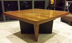 Square top dining table Made of ply- teak wood some