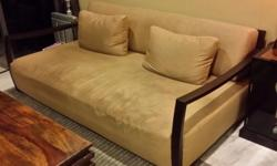 Used designer (huge and comfy) sofa for sale frame :