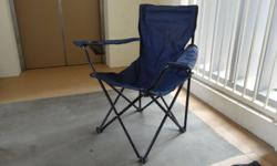 Lightly used Compact camping chair with cup holder.