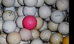 Assorted brands Golf balls for sale. 50-100pcs $.50