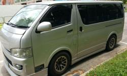 Used Hiace with rear air-con, leather seats for sales.