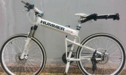 "Used Hummer 26"" Mountain Bike Gears: 24 Speed Foldable:"