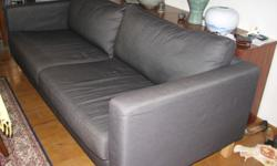 Used 3 seat sofa from IKEA, material denim blue fabric