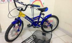 Used less than 1 year BMX 14 inches kid bicycle selling
